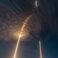SpaceX CRS9 Falcon9 rocket up and down