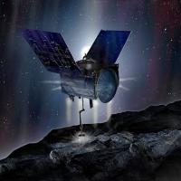 OSIRIS-REx spacecraft orbiting above asteroid Bennu image courtesy of James Vaughan SpaceFlight Insider