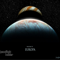 Welcome to Europa, one of Jupiter's Gallilean moons image credit James Vaughan SpaceFlight Insider