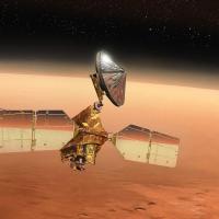 Mars Reconnaissance Orbiter MRO in orbit above the Red Planet. Image CreditL James Vaughan SpaceFlight Insider