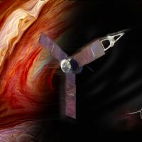 NASA's Juno spacecraft approaches Jupiter's terminator image credit James Vaughan SpaceFlight Insider