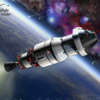 Orion departing Earth on Exploration Flight Test 1 Image Credit James Vaughan SpaceFlight Insider
