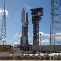 United Launch Alliance Atlas V 551 rocket with the AEHF-4 satellite. Photo Credit: Scott Schilke / SpaceFlight Insider