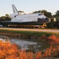 Atlantis move to KSC Visitor Complex