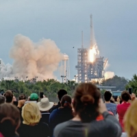 Guests view the launch of SpaceX CRS-10 from KSC's Launch Complex 39A photo credit Andy Sokol Turbofox Photography