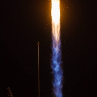 Engine shot from launch of OA-5 on upgraded Antares rocket from Wallops Flight Facility in Virginia photo credit Jared Haworth We Report Space