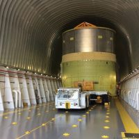 SLS Engine Section Test Article via Pegasus Barge