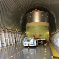 SLS Engine Section Test Article via Pegasus Barge