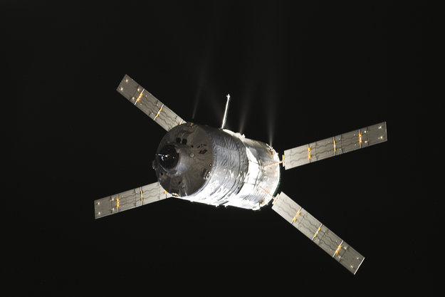 TheRuropean Space Agency's Albert Einstein Automated Transfer Vehicle 4 , is set to leave the space station on Monday, Oct..28. Photo Credit: NASA
