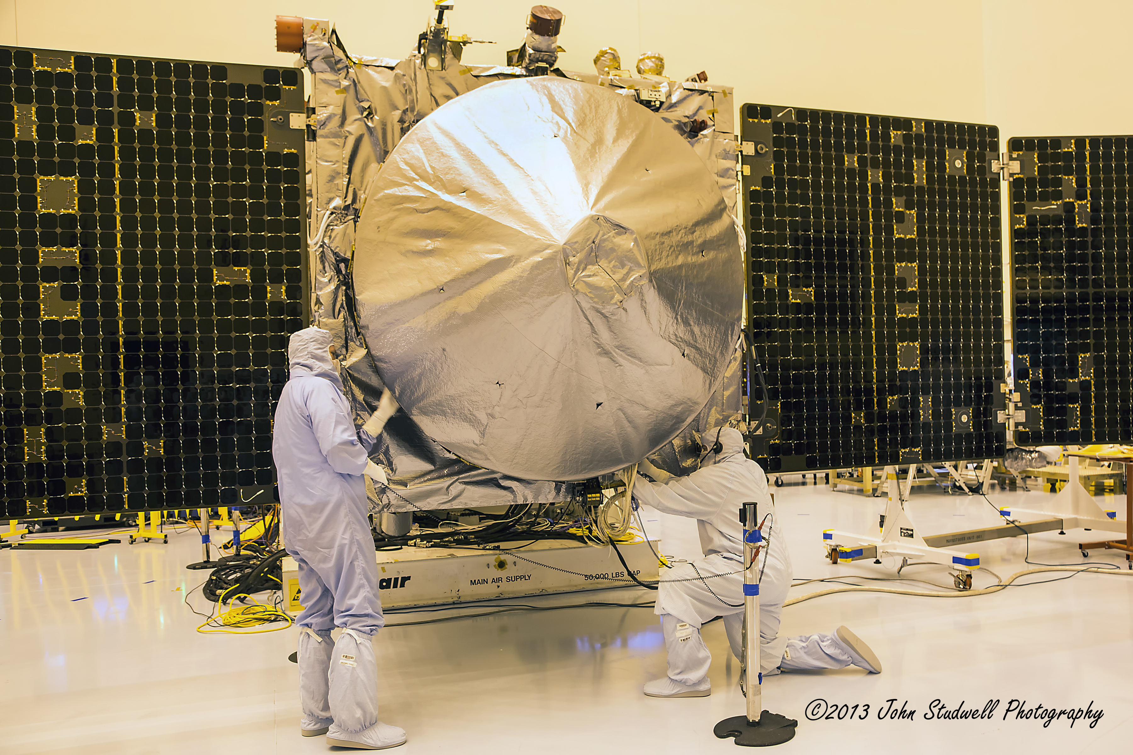 NASA's MAVEN spacecraft is ready for its Nov. 18 launch date. Photo Credit: John Studwell / The SpaceFlight Group