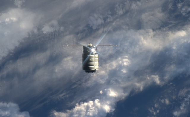 NASA image Orbital Sciences Corporation Cygnus 1 spacecraft departing International Space Station posted on The SpaceFlight Group Insider