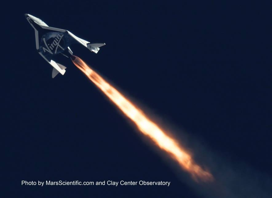 SpaceShipTwo Flight Test Mojave California Virgin Galactic photo Mars Scientific Clay Observatory