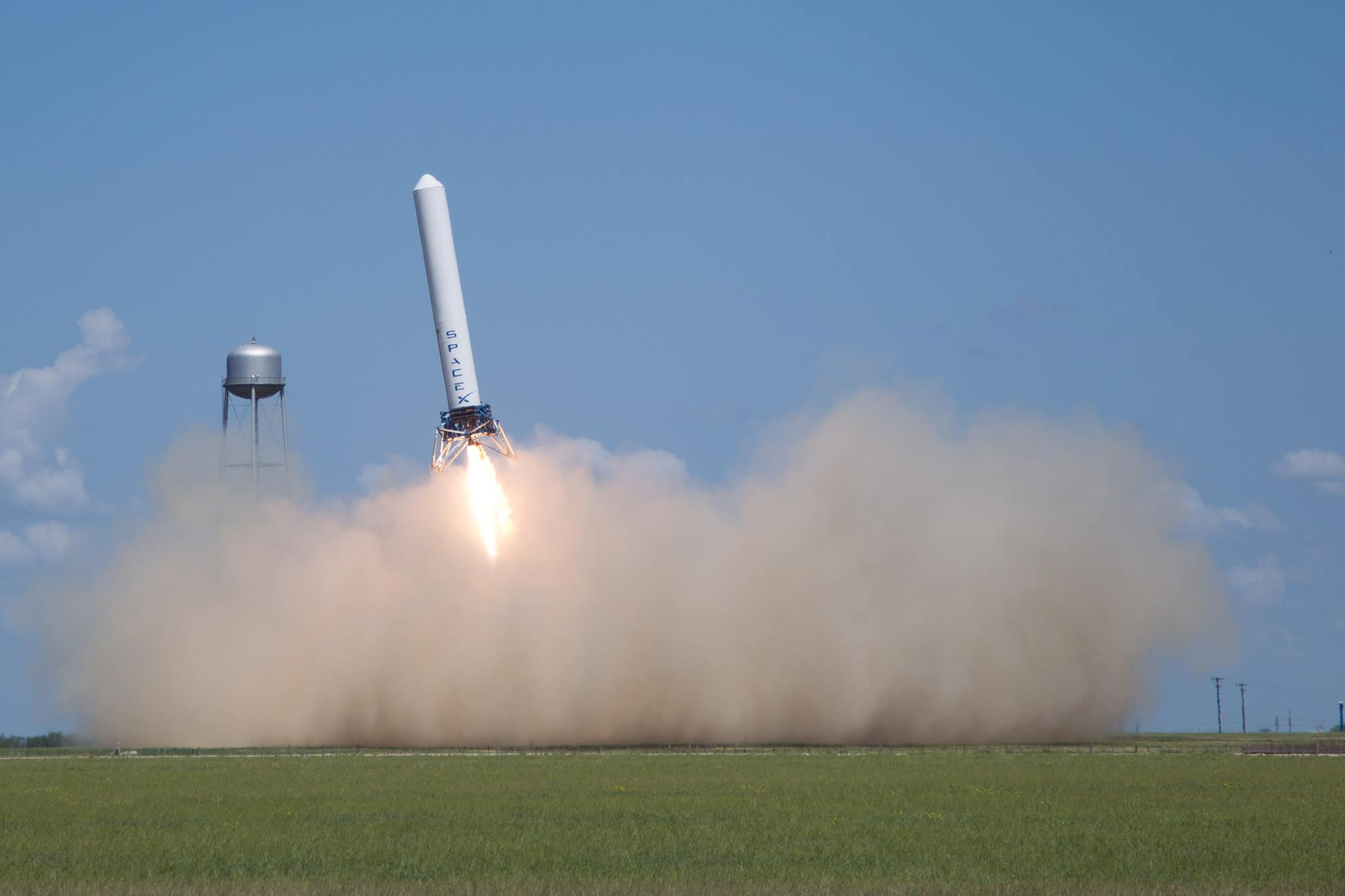 SpaceX Grasshopper test article MacGregor Texas posted on The SpaceFlight Group Insider