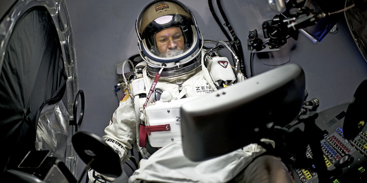 It has been one year since Felix Baumgartner made history by jumping from the very edge of space. A recent interview highlights his thoughts a year later. Photo Credit:  Joerg Mitter, Red Bull Content Pool