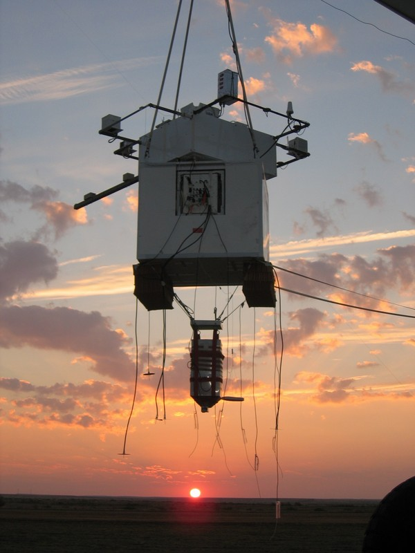 The High Altitude Student Platform HASP) is designed to carry up to twelve student payloads to an altitude of about 36 kilometers with flight durations of 15 to 20 hours using a small volume, zero pressure balloon. Photo Credit:  Louisiana Space Consortium (LaSPACE)