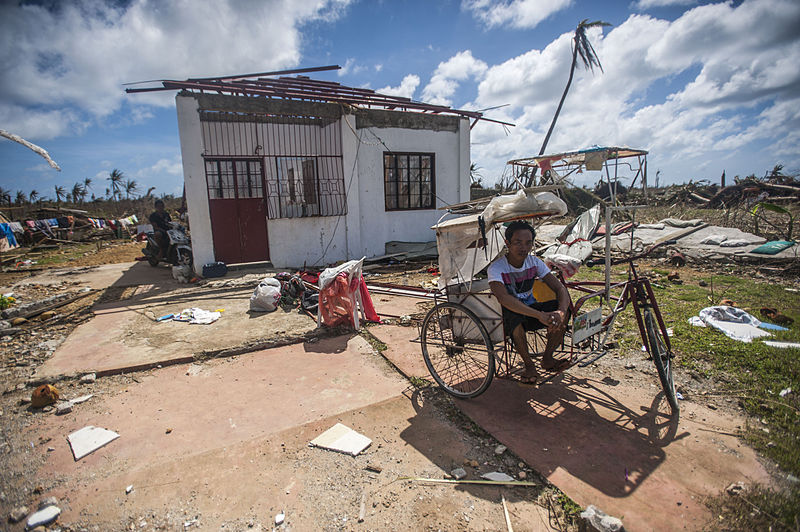 Space assets were used to help refugees recovering from Typhoon Haiyan. Photo Credit: Kennedy, Liam, MCSN