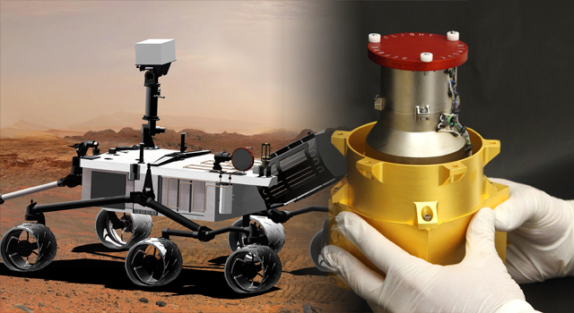 "Curiosity and the one-ton rover's Radiation Assessment Detector or ""RAD."" Image Credit: NASA posted on The SpaceFlight Group Insider"