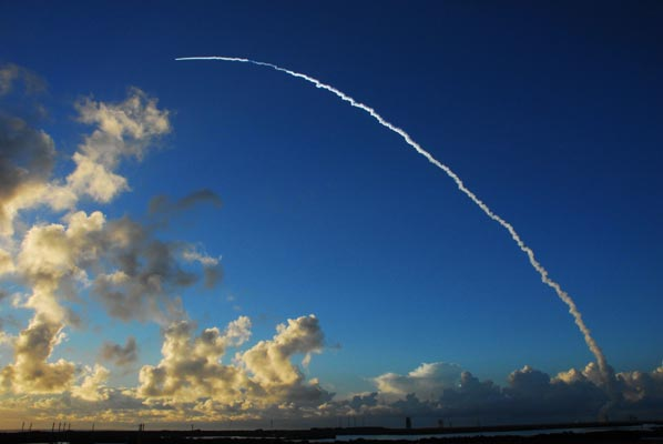 Dawn launched in 2007 atop a United Launch Alliance Delta II rocket from Cape Canaveral Air Force Station in Florida. Photo Credit: NASA