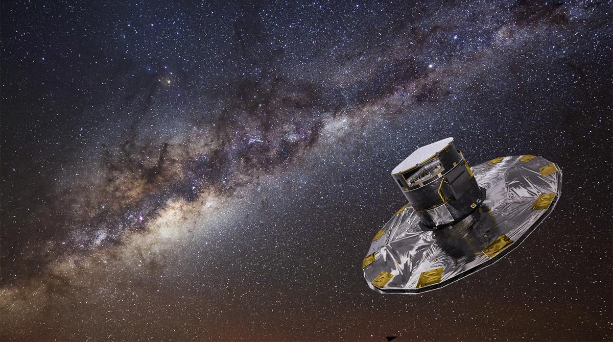 Gaia mapping the stars of the Milky Way Galaxy. Image Credit: ESA