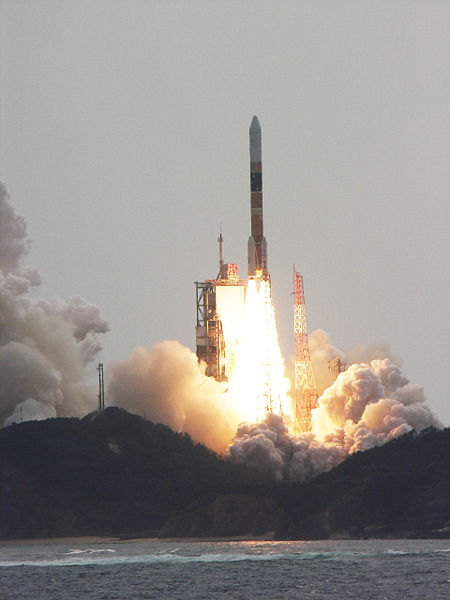 An H-IIA rocket launches from Tanegashima in Japan. Photo Credit: Narita Masahiro