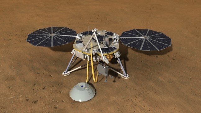 Interior Exploration Using Seismic Investigations, Geodesy and Heat Transport (InSight) mission to Mars. Image Credit: NASA