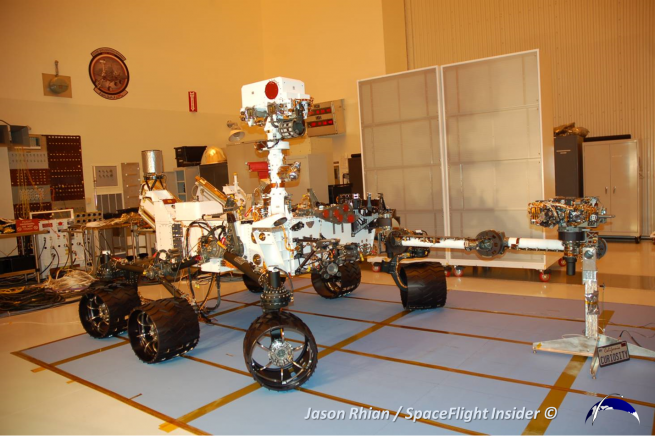 Curiosity will serve as the basic template that the Mars 2020 rover will be based off of. Photo Credit: Jason Rhian / SpaceFlight Insider