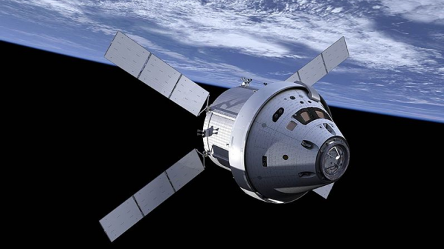 Artist's conception of Orion spacecraft in orbit around Earth. Image Credit: NASA