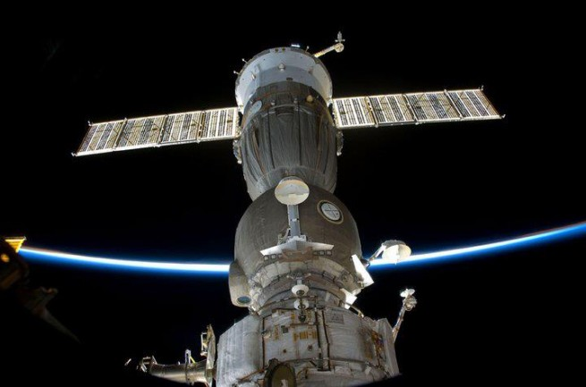 The U.S. is dependent on Russia for transportation of its astronauts to the International Space Station. The U/S/ currently lacks the ability to send crews to the station that it built. Photo Credit: NASA