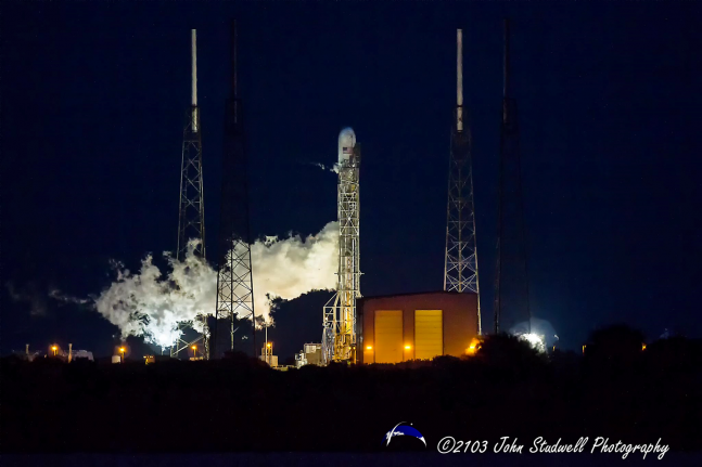 The launch of a SpaceX Falcon 9 v1.1 rocket from Cape Canaveral's SLC-40 - has been postponed due to issues with the launch vehicle's fairing. This is according to a report from NASASpaceFlight.com. Photo Credit: John Studwell / SpaceFlight Insider