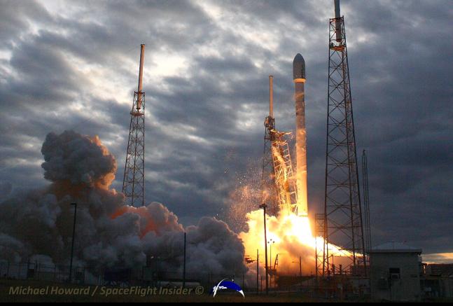 spacex rocket in flight - photo #47