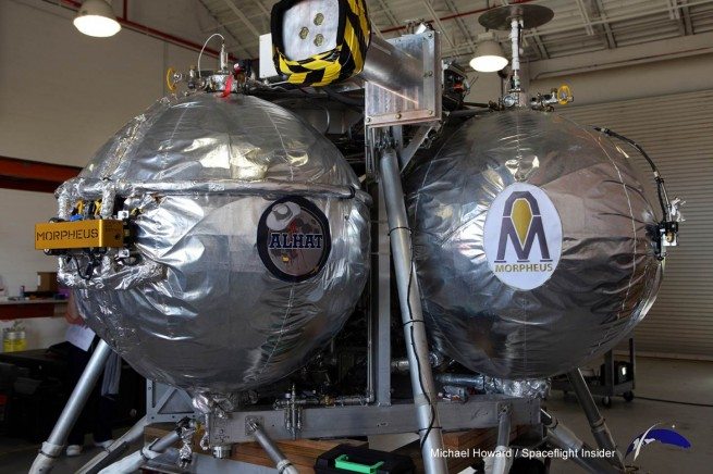Testing of Morpheus continues at Kennedy Space Center with more flights scheduled for the remainder of this year. Photo Credit: Mike Howard / SpaceFlight Insider
