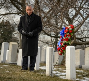 NASA Administrator Charles Bolden at Arlington National Cemetery. Photo Credit: Bill Ingalls / NASA