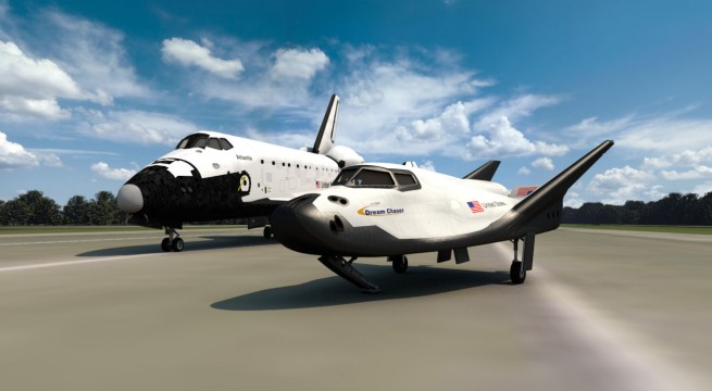 "Dream Chaser is derived from NASA's HL-20 spacecraft, which at one point was going to serve as a ""lifeboat"" for the International Space Station. SNC's Dream Chaser uses much of the lessons learned during the shuttle program. Image Credit: SNC"