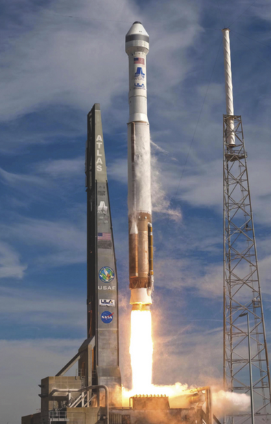 Boeing's CST-100 will ride a United Launch Alliance Atlas V rocket to orbit. Image Credit: ULA / Boeing