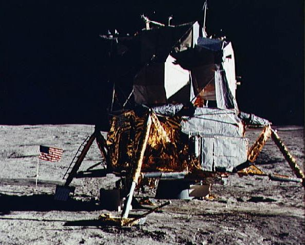 The Apollo 14 Lunar Module on the surface of the Moon in February of 1971. Photo Credit: NASA