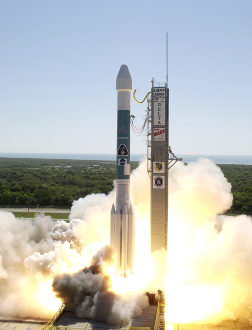 Odyssey was launched atop a Delta II rocket in April of 2001. Photo Credit: NASA