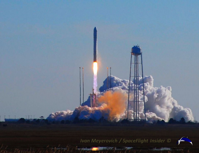 NASA and Orbital launched the C. Gordon Fullerton atop one of the company's Antares boosters on Jan. 9, 2014. Photo Credit: Ivan Meyerovich / SpaceFlight Insider