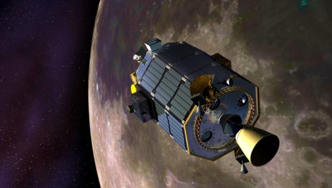 NASA's Lunar Atmosphere and Dust Environment Explorer (LADEE) in orbit around the Moon. Image Credit: NASA