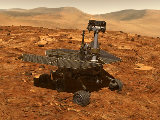 The rovers' unique wing-shaped solar panels provide more surface area to collect the weak Martian sunlight. That also means more area to get covered in the fine, reddish dust. Engineers expected dust to accumulate on the panels and that the rover would have perished years ago - something that has yet to happen. Image Credit: NASA
