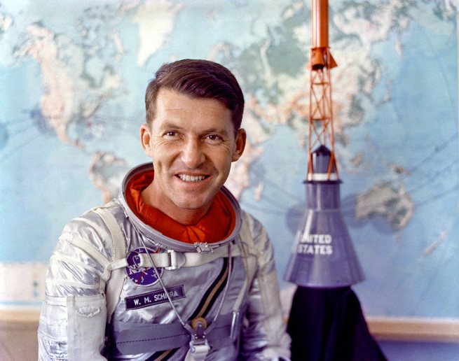 "Walter ""Wally"" Schirra was known as ""Jolly Wally"" by many of his friends. Photo Credit: NASA"