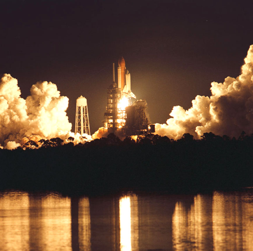 NASA's Chandra X-ray Observatory, which was launched and deployed by Space Shuttle Columbia on July 23, 1999.  Photo Credit: NASA