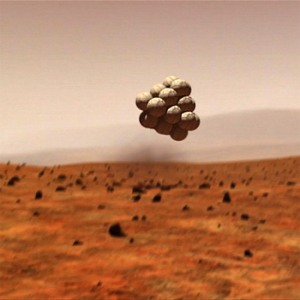 A part of the NASA budget is directed toward developing airbags such as the one which allowed the Mars Exploration Rovers Spirit and Opportunity to land on the surface of the Red Planet. Image Credit: NASA / JPL