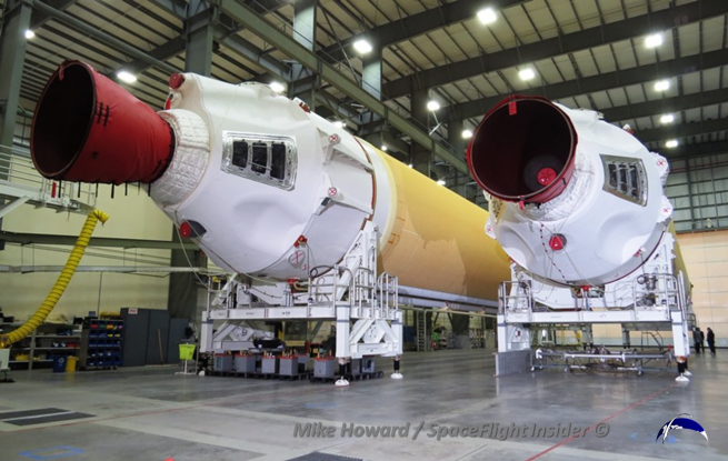 The last of the three CBCs is slated to arrive in April. Photo Credit: Mike Howard / SpaceFlight Insider