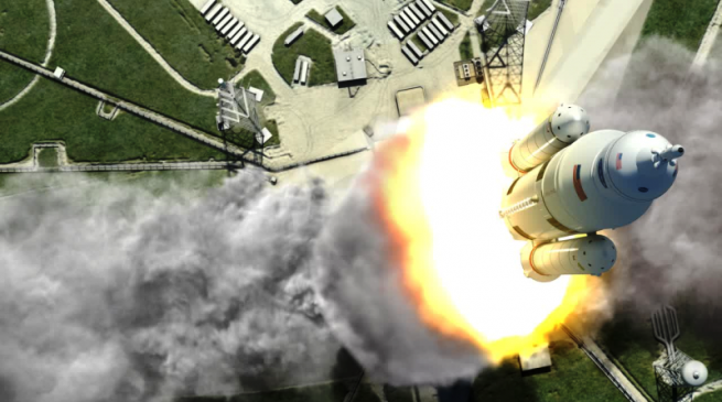 NASA's Space Launch System remains on time and budget. Image Credit: NASA