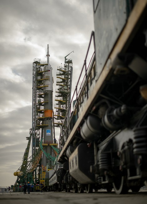 The Soyuz spacecraft will arrive approximately 6 hours after launching from the Baikonur Cosmodrone. Photo Credit: NASA