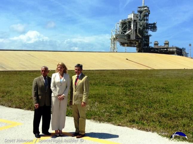 Gwynne Shotwell at LC-39A as seen on Spaceflight Insider