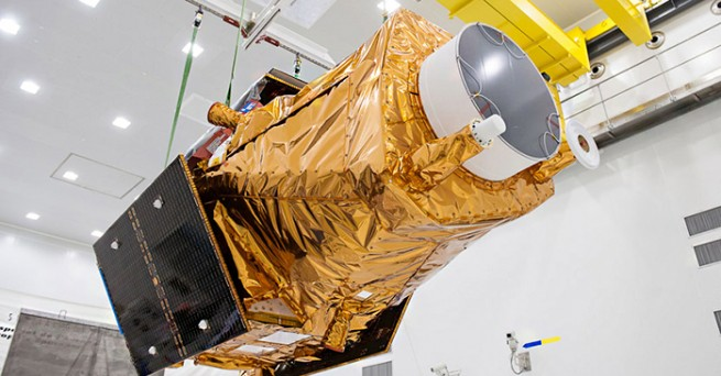 The DZZ-HR spacecraft, seen here, will be placed into a Sun-synchronous orbit. Photo Credit: ESA / CNES