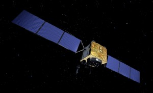 GPS IIF-6 with deployed solar panels. Image Credit: Boeing
