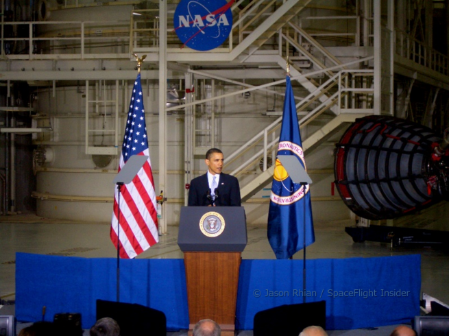 Since his first foray into the world of space exploration, President Obama has stated verbally his support as the president has actively worked to see the space program be increasingly rendered irrelevant. Photo Credit: Jason Rhian / SpaceFlight Insider