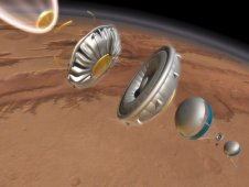 Artist's conception of the stages of the LDSD system in action. Image Credit: NASA